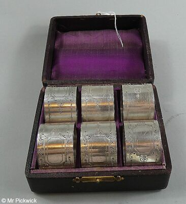 Set of 6 Silver Plated Napkin Rings in a Presentation Box