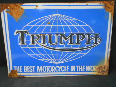 TRIUMPH MOTORCYCLES THE BEST IN THE WORLD TIN SIGN  freepost australia