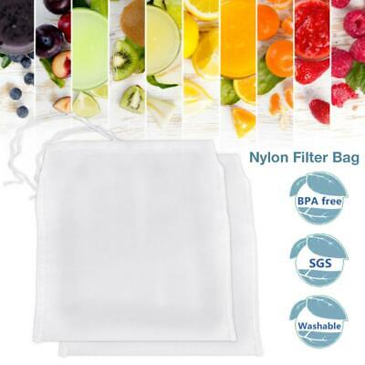Reusable Wine Filter Bag Milk Soy Fruit Juice Nylon Filter Bag for Straining
