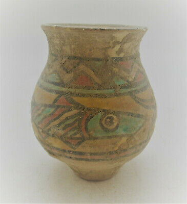Circa 2200-1800Bce Ancient Indus Valley Harappan Terracotta Vessel Fish Motifs