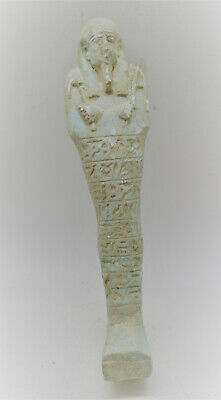 Circa 664-332Bce Large & Impressive Ancient Egyptian Faience Ushabti Shabti