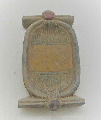 Beautiful Antique Egyptian Stone Scarab With Heiroglyphics