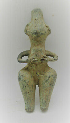 Beautiful Ancient Near Eastern Bronze Worshipper Statuette Very Rare