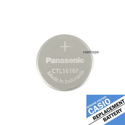 CTL1616F (CTL1616) rechargeable battery for Casio solar watches by Panasonic