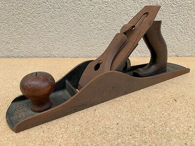 Antique Stanley No. 5  Bailey Wood Plane Smooth Bottom  Pat. Numbers