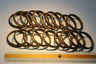 19 Antique French Solid Brass Profiled Curtain Rings (Lot 2 of 2).