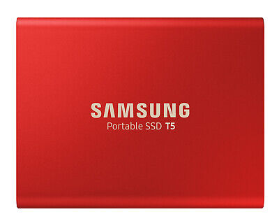 Samsung - MU-PA500R/WW - 500GB Portable SSD T5 - Metallic Red