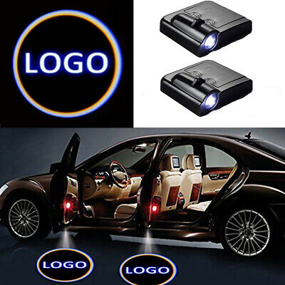 2x Wireless Car Door LED Welcome Laser Projector Logo Ghost Shadow Light Lamp