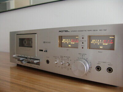Vintage Rotel Stereo Cassette Tape Deck Rd 15F Recorder In Very Good Condition