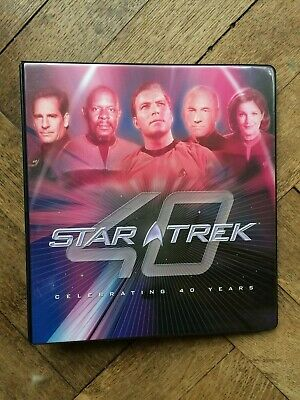 STAR TREK CELEBRATING 40 YEARS TRADING CARD BINDER & 90 Card Base Set , 2006