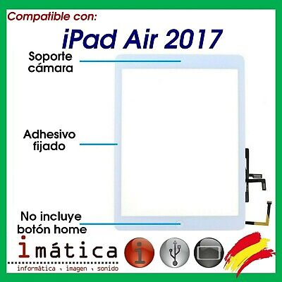Pantalla Tactil Ipad Air 2017 Digitalizador Blanca 5 A1822 A1823 Blanco Cristal