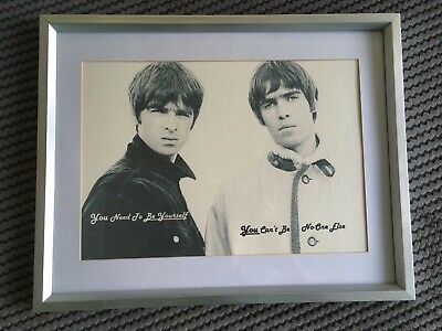 Oasis Noel & Liam Gallagher A4 Print with Inspiring Supersonic Lyrics. Xmas gift
