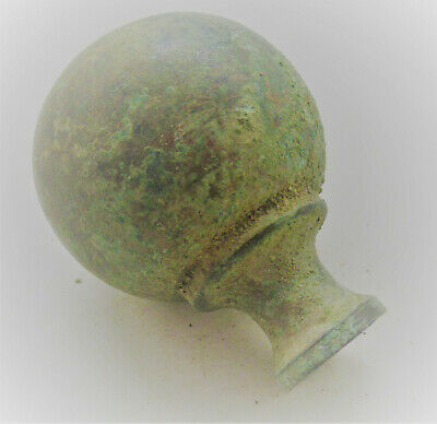Circa 1000Bce Ancient Luristan Bronze Sceptre Top Very Interesting
