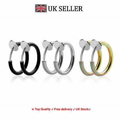 Top Quality Fake Ear Cheater Clip On Earrings Nose Ring Hoop Eyebrow-Lip Cuff