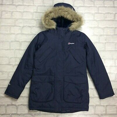 Berghaus Age 13 Years Ancroft Parka Navy Blue Parker Coat Jacket Rrp £80 Cs