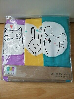 BNWT NEXT 3 Pack 5-6 Years Girls Snuggle Fit rabbit mouse cute Pyjamas