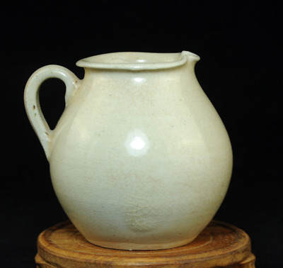 China old White glazed piece of porcelain hand-made antique justice cup Cb01F