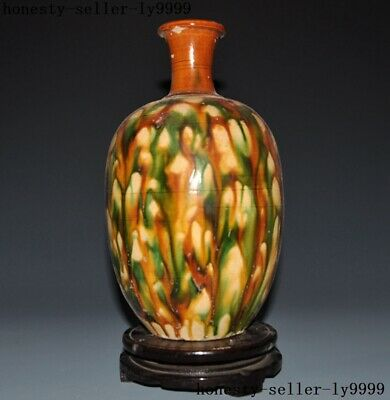 Old China Ancient Tang Sancai porcelain folk dynasty vessel Bottle Pot Vase Jar