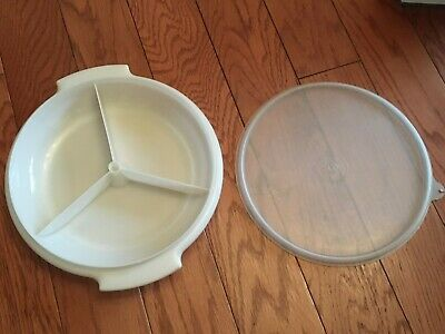 Vintage Tupperware - Suzette 608-1 - Divided Dish With Lid - Free Shipping
