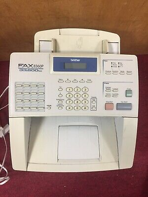 Untested Brother Fax Machine Fax-8360P White