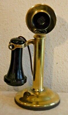 Western Electric Brass Bell System 20 AL NON Dial Working Candlestick Telephone