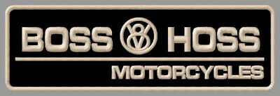 """BOSS HOSS V8 MOTORCYCLES EMBROIDERED PATCH ~5-7/8"""" x 2"""" BIKES POWER BIG BLOCK ."""