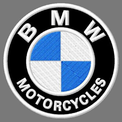 """Bmw Motorcycles Embroidered Patch ~3-1/8"""" Brodé Muokkaa Broderad Embroidado Bike"""