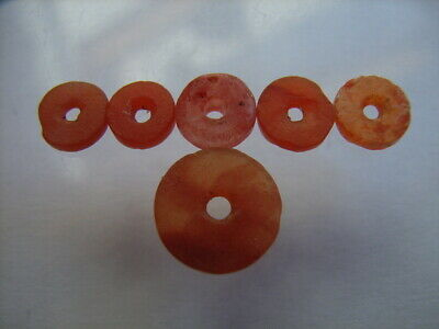 6 Ancient Roman Carnelian Beads Romans VERY RARE!  TOP !!