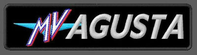 """MV AGUSTA EMBROIDERED PATCH ~4-7/8""""x 1-1/4"""" MOTORCYCLES BRODÉ MUOKKAA BRODERAD"""