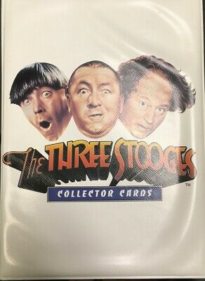 Three Stooges Collector Cards w/ Binder (72 cards in total) complete set