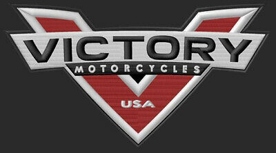 """VICTORY MOTORCYCLES EMBROIDERED PATCH ~7-3/4"""" x 4-1/4"""" BRODÉ MUOKKAA BRODERAD V2"""