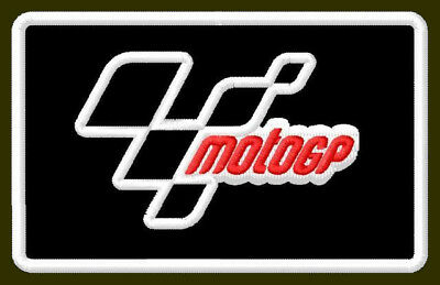 """MOTO GP EMBROIDERED PATCH ~3-7/8"""" x 2-3/8"""" MOTORCYCLES BRODÉ MUOKKAA BRODERAD"""