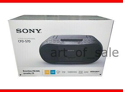 Sony CFD-S70 Portable CD/Cassette Radio Boombox Black NEW