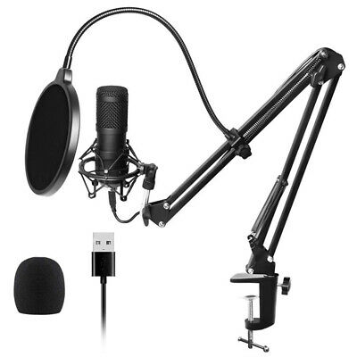 BM800 Condenser Microphone Pro Audio Studio Recording & Broadcasting Kit PC, Mac
