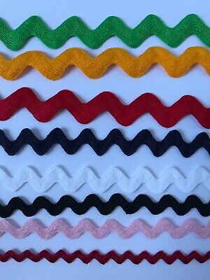 Lot Of Assorted Colors Wavy/Zig Zag/Rick Rack Lace Trim Dolls Sewing DIY 40 yds