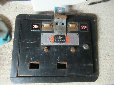 14 by 11 1/2'' MIDWAY COIN DOOR W/ FRAME MS PACMAN USED ARCADE GAME PART csh-2