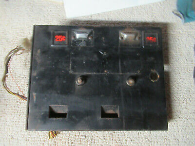 TRON MIDWAY COIN DOOR  MS PACMAN USED ARCADE VIDEO GAME PART csh-3