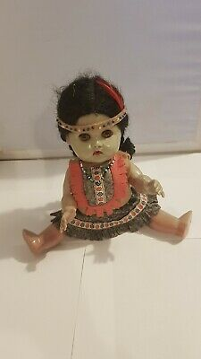 Canadian Reliable Toy Company Native Indian Squaw Doll  Vintage 1969 Collectable