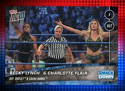 Topps WWE Slam Digital Topps Now Becky Lynch And Charlotte Flair