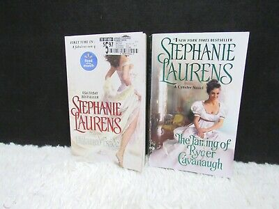 Lot of Two Stephanie Laurens Paperback Books Untamed Bride and The Taming Of...