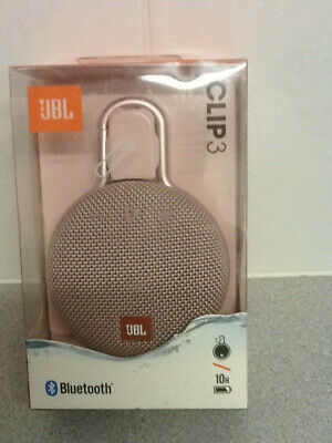 JBL Clip 3 Waterproof Portable Bluetooth Speaker - Pink/Rose Gold