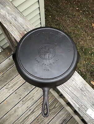 Rare Antique No. 13 Griswold Slant Logo Cast Iron Skillet ~ 720