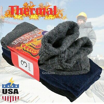 Lot 3-12 Mens Winter Thermal Heated Super Warm Heavy Duty Boots Work Socks 9-13
