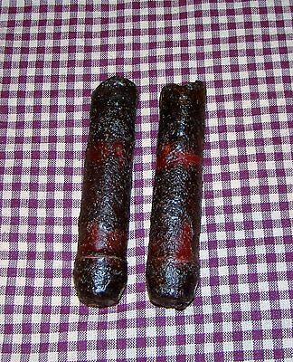 "2~4"" Battery LED Timer Drip Candles Rustic Primitive Country burgundy"