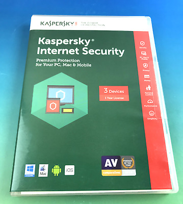 Kaspersky Internet Security 2017 Free Upgrade To 2018 Key Card 3 Devices #4316