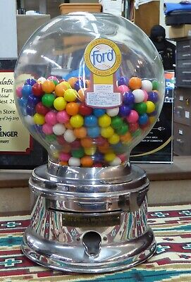 Vintage Ford Penny Gumball Machine Great Condition New Gumballs Included