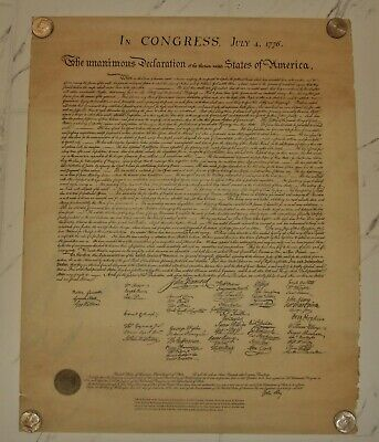 VTG Official Facsimile 1902 Department of State Declaration of Independence 24""