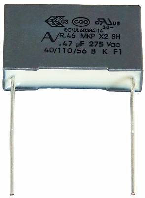 PACK OF 5 5 x 0.15uF 275VAC 150nF R.46 MKP X2 SH Safety Capacitors 40//110//56