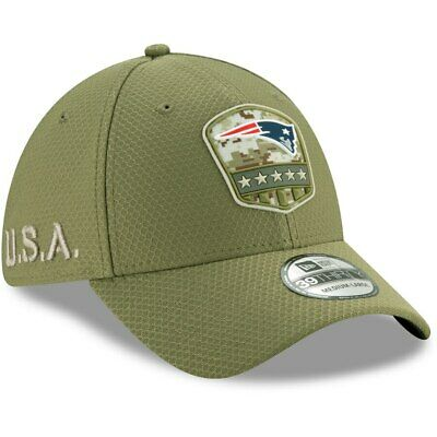 New England Patriots 2019 NFL New Era 39THIRTY Salute To Service Sideline Hat