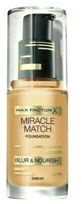 Max Factor Miracle Match Foundation Blur & Nourish 30ml ~ Sand 60